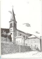 07 Saint Martial, L'église. Carte Illustrateur Roger Douet 15 X 11 (GF326) (4) L300 - France