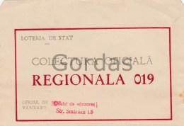 Romania - Bucuresti - Loteria De Stat - Colectura Oficiala - Plic - Envelope - Lottery Tickets