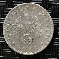 German Empire 50 Reichspfennig 1941 (F) - [ 4] 1933-1945 : Third Reich