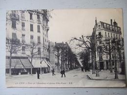 LYON / PLACE DE L 'ABONDANCE ET AVENUE FELIX FAURE / BELLE CARTE ANIMEE / 1914 - Lyon