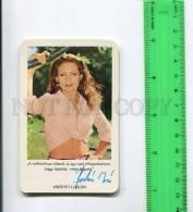 264000 Iren BORDAN Hungarian ACTRESS Film 1977 Pocket CALENDAR - Calendars