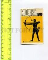 264001 1980 OLYMPIAD Archer USSR Pocket CALENDAR ADVERTISING - Calendars
