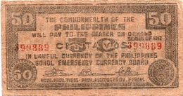 FILIPPINE 50 CENTAVOS 1942 -BOHOL EMERGENCY CURRENCY BOARD - Filippine