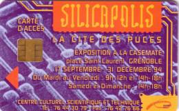 FRANCE CARTE A PUCE CHIP CARD GEMPLUS CITE DES PUCES SILICAPOLIS ACCES UT RARE - France