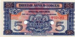 GRAN BRETAGNA-INGHILTERRA-5 SHILLINGS1956-SPECIAL VOUCHER-BRITISHARMED FORCES-UNC - Emissioni Militari