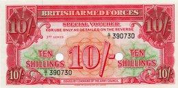 GRAN BRETAGNA-INGHILTERRA-10 SHILLINGS1956-SPECIAL VOUCHER-BRITISHARMED FORCES-UNC - Emissioni Militari