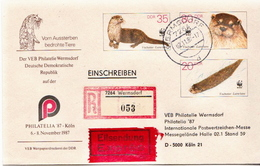 Postal History: Germany / DDR Registered Postal Stationery Cover - W.W.F.
