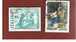 ITALIA REPUBBLICA  - UNIF. 1869.1871          -      1988    NATALE          -      USATO - 6. 1946-.. República