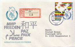 Postal History: Germany / DDR Registered Postal Stationery Cover - Columbiformes
