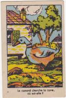 Chromo/image En Carton - Le Canard Cherche La Cane, Où Est-elle? - Trade Cards