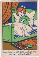 Chromo/ Image En Carton - Une Souris Est Dans La Chambre! Où Se Cache T-elle? - Trade Cards