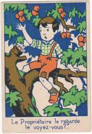 Chromo/ Image En Carton - Le Propriétaire Le Regarde, Le Voyez Vous? - Trade Cards