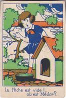 Chromo/ Image En Carton - La Niche Est Vide, Où Est Médor? - Trade Cards