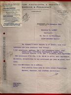 Courrier Manufacture Enveloppes & Registres Garnier & Ponsonnet Annonay 3-11-1942 Pour Carrot Imprimerie St Etienne - 1900 – 1949