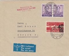 Suisse Lettre De Zürich 1937 - Marcophilie