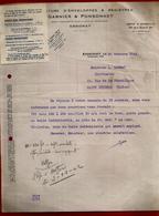 Courrier Manufacture Enveloppes & Registres Garnier & Ponsonnet Annonay 30-10-1942 Pour Carrot Imprimerie St Etienne - 1900 – 1949