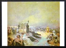 740075 Alphonse MUCHA ~ The Slav Epic (After Battle) ~ DEATH Motherhood BREASTFEEDING ~ Czech Art Painting Postcard - Mucha, Alphonse