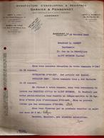 Courrier Manufacture Enveloppes & Registres Garnier & Ponsonnet Annonay 23-10-1942 Pour Carrot Imprimerie St Etienne - 1900 – 1949