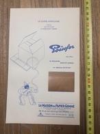 PUBLICITE 1934 MAISON DU PAPIER GOMME CHAPPELIER PARIS POISSFOR LOTION D OR DE BINET DORURE - Collections