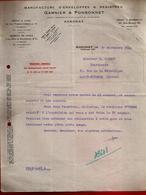 Courrier Manufacture Enveloppes & Registres Garnier & Ponsonnet Annonay 30-09-1942 Pour Carrot Imprimerie St Etienne - 1900 – 1949