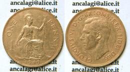BM745 - GRAN BRETAGNA - Moneta ONE PENNY, 1949 - Re Giorgio VI - 1902-1971 : Post-Victorian Coins