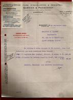 Courrier Manufacture Enveloppes & Registres Garnier & Ponsonnet Annonay 25-09-1942 Pour Carrot Imprimerie St Etienne - 1900 – 1949