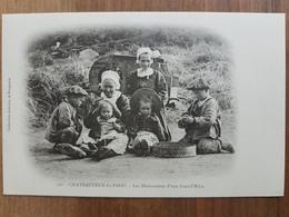 Chateauneuf Du Faou.les Distractions D'une Grand Mère.coiffes Costumes Bretons.vannage Blé.édition Joncour 321.très Rare - Châteauneuf-du-Faou