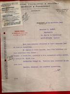 Courrier Manufacture Enveloppes & Registres Garnier & Ponsonnet Annonay 14-09-1942 Pour Carrot Imprimerie St Etienne - 1900 – 1949