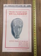 PUBLICITE 1934 TABLEAU RELIEF WEILLROBERT RUE VICQ AZIR PARIS WEILL ROBERT - Collections