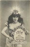 - Thèmes -ref-A746- Illustrateurs - Illustrateur Bergeret - Nancy - Voeux Année 1904 - Années - Carte Bon Etat - - Bergeret