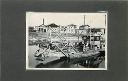 BATEAU -Drague, Photo Années 30 à Localiser (photo Format 9cm X 6,4cm) - Boats