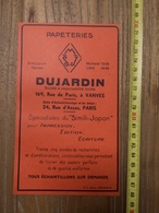 PUBLICITE 1934 PAPETERIES SIMJAPON VANVES MICHELET LITTRE DUJARDIN ANDRE TOURNON IMPRIMEUR PARIS RUE SAINT HONORE - Collections