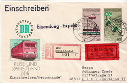 Postal History: Germany / DDR Registered Postal Stationery Cover - Trains
