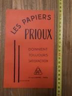 PUBLICITE 1934 PAPETERIES PAPIER PRIOUX RUE DU LOUVRE PARIS BENJAMIN CONSTANT NAVARRE ET DU MARAIS - Collections