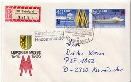 Postal History: Germany / DDR Registered Postal Stationery Cover - Ships