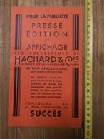 PUBLICITE 1934 PRESSE EDITION HACHARD ET CIE RUE DE LA MADELEINE PARIS RUE D AMSTERDAM - Collections