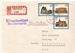Postal History: Germany / DDR Registered Postal Stationery Cover - Castles