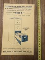 PUBLICITE 1934 MEUBLE CLASSEMENT VINTAGE AVISO G BARRI RUE GAMBEY PARIS - Collections