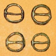 Lot De 4 ROUELLES En Bronze. - Celtic