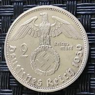 German Empire 2 Reichsmark 1939 (D) - [ 4] 1933-1945 : Third Reich