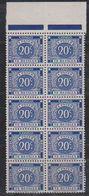 Belgisch Congo 1943 Strafport 20c Tanding 12,50 10x ** Mnh (38894A) - Congo Belge