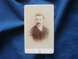 Photo CDV  Lascoumettes à Pau  Portrait Homme  Grosse Moustache - CA 1885 - L382 - Photographs