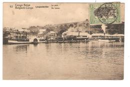 Belgisch Congo Belge  Entier Vue 52 Lépoldville Le Port-de Haven CP 5c + TP Mols 5c C.Lisala 6/1/1919 Non Voyagée PR5222 - Entiers Postaux