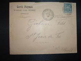 LETTRE TP SAGE 15 OBL.28 MARS 98 ST MARTIN DE LONDRES HERAULT (34) SERVEL POLYMEN VIOLS LE FORT - Postmark Collection (Covers)