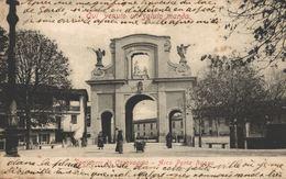 ITALIA - ITALY - LOMBARDIA - CARAVAGGIO, Dantuario Di Caravaggio, Arco Porta Nuova - 1906 - Autres Villes