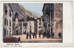 KOTOR CATTARO TRG.SV.LUKE ST.LUKAS PLATZ CRNA GORA MONTENEGRO   POSTCARD - Montenegro