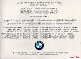 BMW 2000 COUPÉ (EXISTE EN 3 VERSIONS) - Advertising