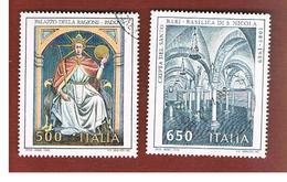 ITALIA REPUBBLICA  - SASS. 1858.1859    -      1989     ARTE ITALIANA   -      USATO - 6. 1946-.. República