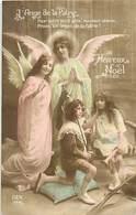 - Thèmes -ref-A725- Guerre 1914-18 - Patriotique - L Ange De La Patrie - Anges - Enfants -  Noel - Religions - - Patriotiques