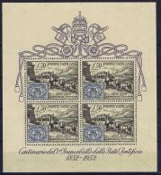 Vatican: Block Nr 1 MH/* Flz/ Charniere On Border Stamps Are Postfrisch/neuf Sans Charniere /MNH/** 1952 - Blocchi E Foglietti
